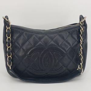 Chanel Caviar Leather Timeless CC Shoulder Bag